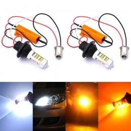 2x LED BAU15S, PY21W 12-18V...