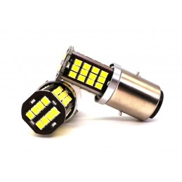 LED BA20D, H6 6V dual white