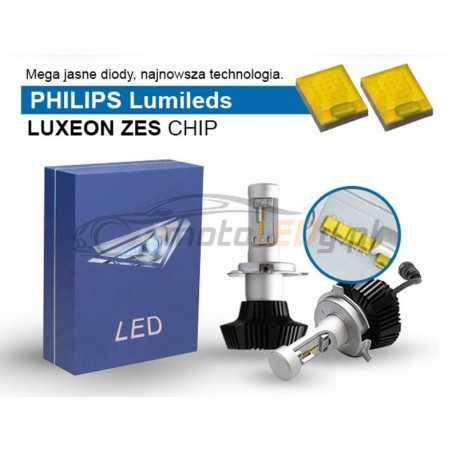 żarówki LED H4 12V-24V CANBUS Lumileds zestaw