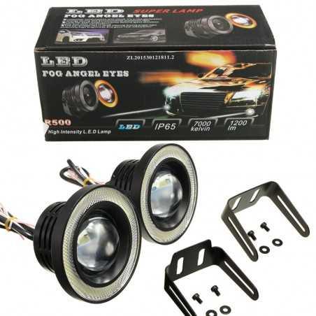 DAYTIME RUNNING LIGHTS Angel eye, COB LED diameter 6,5cm