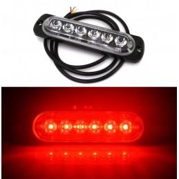 Fog Lights, 6 LED 12V-18V, red