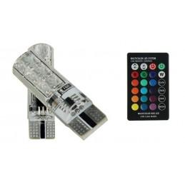 żarówki LED T10 12V RGB...