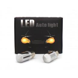 2x LED BAU15S, PY21W 12-24V...